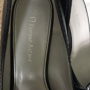 Etienne Aigner Shoes - Etienne Aigner navy pump with buckle accent